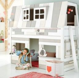Lifetime Kidsroom Hangout Bed Loft Below