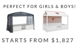 adaptable 4 in 1 kids bed promo content